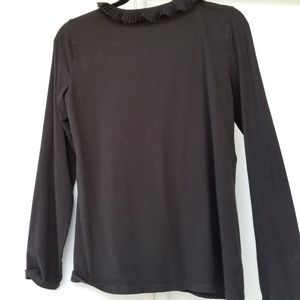 Ann Taylor Tops - Ann Taylor Womens Black Fine Knit Top with Lace M